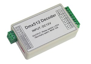 10 pieces free shipping 3CH dmx512 relay Controller , relay switch output DMX512 relay decoder