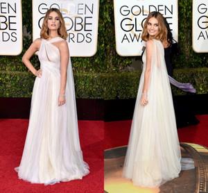 2021 Golden Globe Award Lily James Формальные знаменитости Вечерние платья Tulle Длина Prom Pretion Party