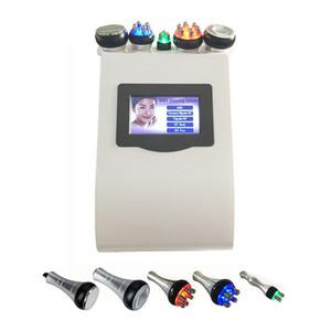 Ücretsiz kargo 5in1 Ultrasonik Liposuction 40 K Kavitasyon Vakum Çok Kutuplu bipolor RF lazer Zayıflama radyo frekansı CILT VÜCUT SALON MAKINESI