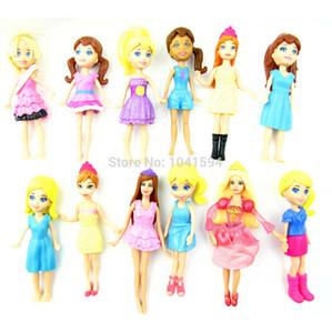 Новое прибытие, новый смешанный образец Случайный 12 шт. / Установлен Симпатичные POLLY Pockets Girl Doll Игрушечные фигуры для лучших подарков