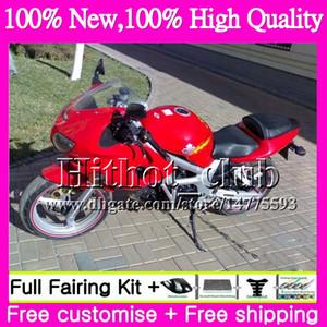 Carenado de motocicleta para SUZUKI SV1000 SV400 Rojo SV1000S 98 99 00 01 02 36HT5 SV 1000 SV650 SV400S SV650S 1998 1999 2000 2001 2002 Rojo brillante
