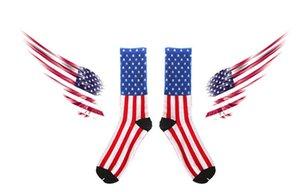 2015 Hot Harajuku American flag socks men socks women socks 100% pure cotton socks Skateboarding Sport Socks