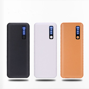 Yeni Stil deri Patten 20000mAh Güç Bankası 3USB Harici Batarya Gücü Bankalar Şarj iPhone 7 8 x Samsung'un s8 tüm telefon Evrensel İçin