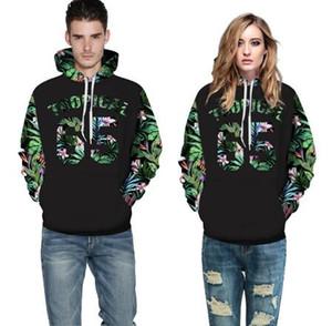 Green Leaves Hoodies Men Women 3d Sweatshirts Print Number 65 Letters Flowers Hooded Hoodies Graphic Sweatshirts