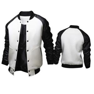 Automne-Veste Hiver Mode Hommes Vestes Manteaux American Style Varsity Baseball Letterman University College Veste Manteau Outwear