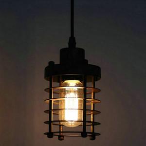 Birdcage Pendant Light Chandelier Vintage Ferro luminária Restaurant Luzes pendentes Edison lâmpadas Única cabeça de suspensão aparelho de iluminação