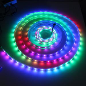 Оптовая Бесплатная доставка Водонепроницаемый IP67 DC5V RGB LED Pixel Strip 48LEDs / метр LPD8806 RGB LED Strip 240LEDs / 5M