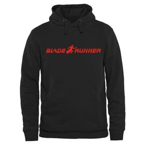 Free Shipping Men's Sweatshirts Men's Blade Runner Classic Movie Logo Hoodie Black Performance Pullover Hoodie Mix Order