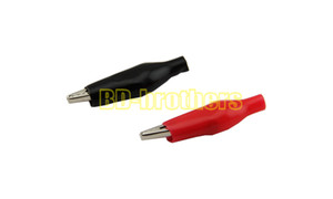 Metal Alligator Clip crocodile electrical Clamp FOR Testing Probe Meter 27mm Black and red Plastic Boot 1000pcs lot