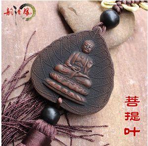 Sculpture sur charbon de bois Bouddha Ornements d'automobiles Accessoires frais Accessoires intérieurs