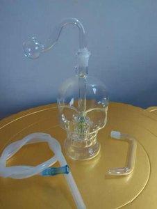 Skull huesos de vidrio hookah, entrega al azar de color, accesorios de vidrio al por mayor de la cachimba, accesorios de vidrio bongs, envío libre, grande mejor