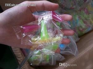 Ponta de gotejamento de plástico para o árabe atomizador shisha e hookah descartável longo teste dicas gotejamento pontas do gotejamento do dedo com pacote individualmente e 5 cores