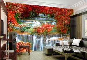 Wall paper 3D landscape water making money wallpaper mural wall stickers wallpaper papel de parede wallpapers20153034