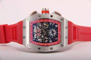 Top Marca De Luxo Felipe Massa Flyback Mecânico Automático Relógio De Borracha Preta Mens Esqueleto Atacado Menor Preço Men Stainless Wristwatch