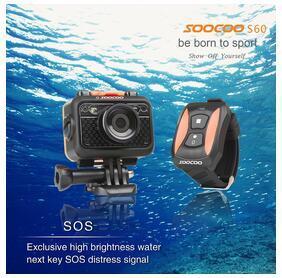 """Ursprüngliche SOOCOO S60 60M wasserdichte Sport DV SOOCOO SJ6000 WiFi Action-Kamera 12MP volles HD 1080P 30FPS 2,0 """"LCD-Tauchen DHL-freies Verschiffen"""