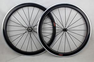 ruote in lega di carbonio 50mm bici copertoncino bici da strada 700c in fibra di carbonio bici da corsa da corsa wheelset con freno in lega di superficie powerway mozzo in carbonio