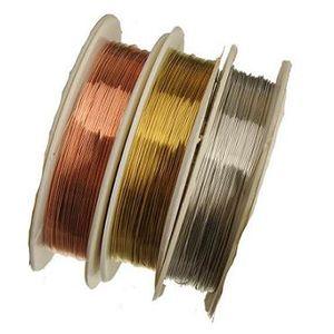 metalldraht für die herstellung von schmuck armband halsketten metall messing seile string thread mix set 0,4mm neue diy modeschmuck zubehör 10 mt 10 stücke