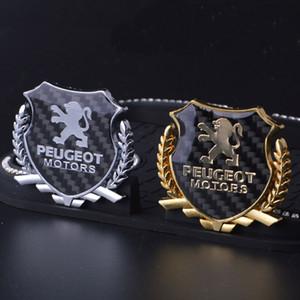 logo 2 pezzi Affinamento 3D Graphics distintivo dell'emblema della decalcomania autoadesivo PEUGEOT
