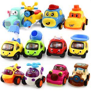 Diecast модель Детская игрушка автомобиль Отойдите назад автомобиль инерционные Engineering Aircraft поезд Коллекция Автомобиль Автомобиль Игрушки для мальчиков Дети Рождественский подарок
