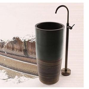 Оптом и в розницу Престижное Античная латунь ванной ванна смеситель ванна раковина смесители ванна Filler душ горячая и холодная водопроводная mider