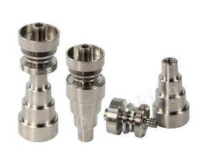 10mm 14mm 18mm 조정 가능한 GR2 Domeless 티타늄 네일 그레이드 2 티타늄 네일 유리 봉 물 담뱃대 물 파이프 담배 파이프 봉