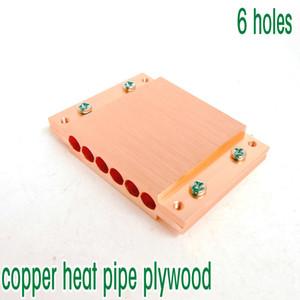 Bakır ısı borusu kontrplak ısı borusu fullerboard bakır blok 6 delik çapı 6mm ısı borusu için