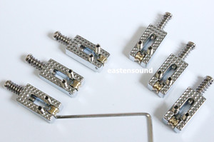 6шт мост Тремоло роликовые седла для гитары гаечный ключ 10.8 мм