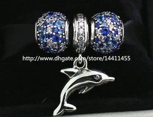 S925 Sterling Silver Charms and Murano Glass Bead Set with Charm Box Fits European Pandora Jewelry Charm Bracelets-Su002