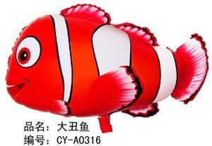 50pcs / lot 45 * 66cm grande nemo palloncino ad elio per la decorazione del partito palloncini palloncini pesce pagliaccio animale a forma di palloncino foil