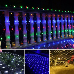 LED NET Lichterketten Weihnachten Outdoor wasserdichte Net Mesh Fairy Light 2m * 3m 4m * 6m Hochzeit Party Licht mit 8 Funktionscontroller