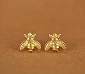 10 Pair Gold Argento Honey Ape Orecchini Tiny Honeybee Stud Orecchini Woodland Insect Fly Bilo Honey Bumble Bee Stud Orecchini