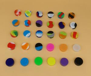 Оптовые 30 цветов 3 мл 5 мл 7 мл Антипригарного силиконового Jar Dab Воск Контейнеры для воска Силиконовых баночки концентрата Case 6 в 1 Пасс FDA LFGB Test
