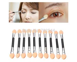 Atacado Descartável Make Up EyeShadow Aplicador Escova Double-Headed Esponja Sombra de Olho Escova (1000 Pçs / lote) + Frete Grátis