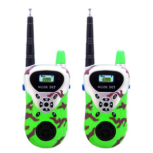 1 Pair Kid walkie talkie 30m~50m Remote smart wireless intercom walk talk radios many kids chatting together