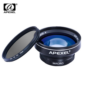 APEXEL 3 in 1 HD 카메라 키트 063x WIDE MACRO, 52mm CPL 필터 포함, iPhone 5s 6s Plus Xiaomi 삼성 Galaxy S7 에지 렌즈
