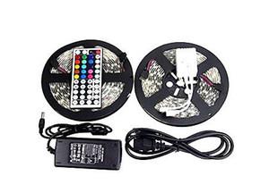 10m 5050 RGB LED Streifen-Licht DC 12V Wasserdicht 30leds / m 150leds 5m / roll Fita De Tiras Luces + 44 Schlüssel-Fernbedienung + 6A Netzteil