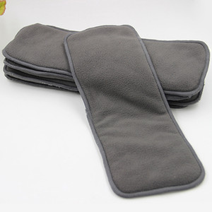 4 capas de carbón de bambú inserta pañal de tela para bebé Pañal lavable reutilizable pañales de bebé 4 capa engrosamiento urinario almohadilla
