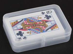 100pcs High Quality Transparent Playing CARDS Plastic Box PP Storage Boxes Packing Case (CARDS width less than 6cm)
