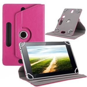 Custodie universali per Tablet caso 10 di cuoio girante da 360 gradi del basamento della copertura 7 8 9 pollici flip Fold Covers incorporata Scheda Fibbia per iPad Mini