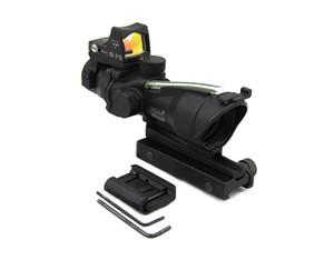 Tactique ACOG 4X32 Portée de fusil avec RMR Micro Red Dot Pour Airsoft Chasse Noir (G)