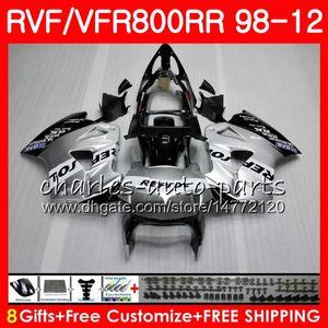 VFR800 Für HONDA Interceptor VFR800RR 98 99 00 01 02 03 04 12 Repsol silber 90HM5 VFR 800 RR 1998 1999 2000 2001 2002 2003 2004 2012 Verkleidung