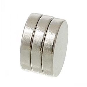 Beijia Superstarke Neodym-Scheibenmagnete, silberfarben, 10 mm Durchmesser, 50 Stück