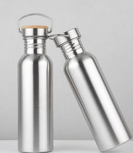 50PCS / الكثير 750ML معزول الفم الصلب واسعة زجاجات السفر مقبض زجاجة الفولاذ المقاوم للدراجات المائية مع فراغ Xircs