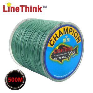 Líneas 300 500M GHAMPION LineThink Marca X8Strands Mejor multifilamento trenzado PE línea de pesca Pesca trenza 100M envío