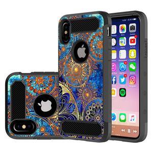 Iphone Xs Durumda Telefon Kılıfları için 3D Silikon Boyama Karbon Fiber Yumuşak TPU Darbeye Arka Kapak Kılıf iphone x 8 8 artı