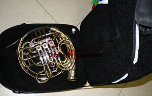 Advanced 4 key double French Horns Golden With Case free shipping