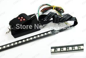 Al por mayor-1set x RGB SMD LED 7 Color Glow Strip Knight Rider Strobe Under Bumper Grille Remote