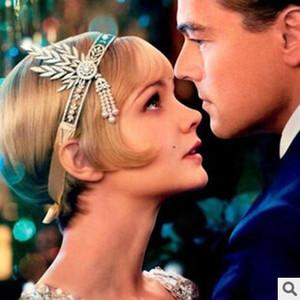 Diadème de mariage Le Grand Gatsby DAISY Cristal Perles Glands Bandeau mode cheveux accessoires Big Promotion vente Chaude