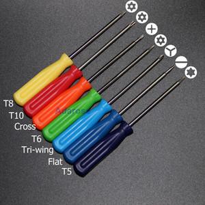 7 Piezas / SET TORX T5 T3 T8 T10 Cross Tri-Wing Forma plana Destornillador Teléfono Celular Herramienta de reparación o Xbox 360