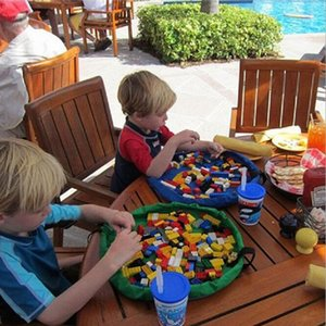 Оптовая торговля-37 см портативный детские игрушки сумка для хранения и играть мат игрушки организатор ящик мода практические сумки для хранения PC674520